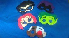 Teen Titans Go Inspired Felt Masks..Superheros...