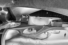 Eero Saarinen's Beautiful TWA Terminal (now unused) At New York's JFK Airpor