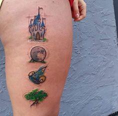 Disney Magic Kingdom Tattoo by Russell Van Schaick