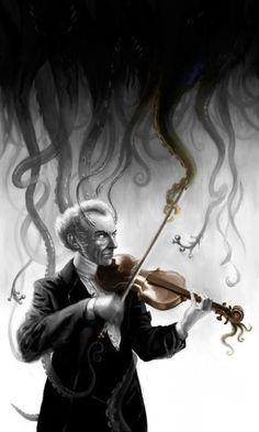 The Music of Erich Zann – Lovecraftian Science Hp Lovecraft, Lovecraft Cthulhu, Arte Horror, Horror Art, Yog Sothoth, Call Of Cthulhu Rpg, Lovecraftian Horror, Eldritch Horror, Dark Fantasy