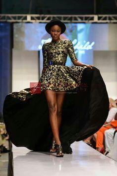 Brocade gown