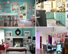 Great turquoise ideas for kitchen and living room