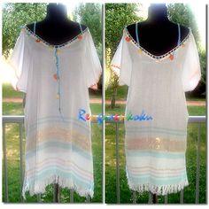 Rengarenkoku: İnce peştemal el işi deniz elbisesi.Lütfen fiyat bilgisi ve siparişleriniz için rengarenkoku@gmail.com adresine e- posta yollayınız.instagram adresimizden facebook sayfamızdan da tasarımlarımızı izleyebilirsiniz..