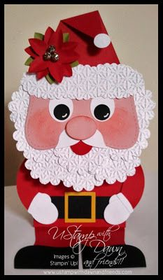 Stinkin' cute Santa card--think I can use what I already have to make this too.....