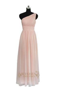 2016 Empire One-shoulder Bridesmaid Dress AM455