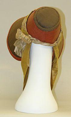 poke bonnet   Poke bonnet, 1830–40   Women's Fashion - 1830s