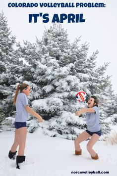 When i went to Colorado to see my cousin and we wanted to play vball! problem is it just got done snowing lol Volleyball Sayings, Volleyball Problems, Soccer Memes, Play Volleyball, Softball, North Dakota, Hilarious, Funny, Coaches