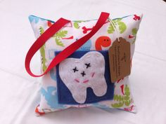 Tooth Fairy Pillow in Dino Dudes on Etsy, $10.00