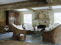 Hard to believe that this family room used to be a two-car garage. Anything's possible!