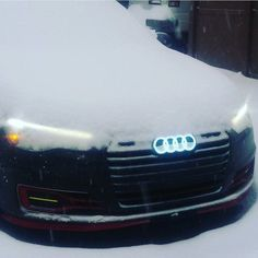 Ready for some Audirings in LED? - #Audiquattro #quattroseason ---- oooo #audidriven - what else  @slimshady0321 ---- #Audi #quattro #4rings #quattrowinter  #drivenbyvorsprung #winter #snow #quattrosnow #audirings #audiafterdark