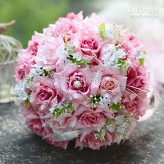 Cheap wedding bouquets feathers, Buy Quality wedding rings rose gold directly from China bouquet rose Suppliers: 2017 Cheap Wedding/Bridesmaid Bouquets New Colorful Amazing Bridal Handmade Artificial Rose Bouquet de mariage ramo de la boda Wedding Bouquets Online, Wedding Bridesmaid Bouquets, Rose Bridal Bouquet, Flower Bouquets, Bridal Bouquets, Wedding Favors, Fake Flowers, Pretty Flowers, Pink Flowers
