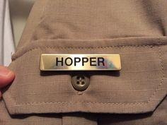 Hawkins Police Hopper Name Badge Stranger by edgewatermedia