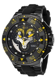 Image for Men's Excursion Reserve Chrono Black Polyurethane and Dial from World of Watches