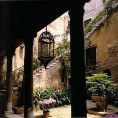 I would enjoy a courtyard such as this!