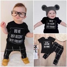 Newborn Baby Boys Casual T-shirt Tops+Long Pants Outfit Clothes Set 0-24M #Unbranded #Casual