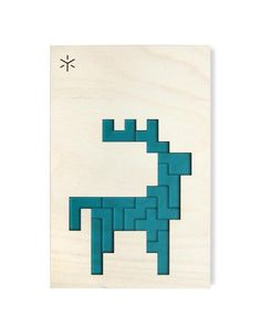 Bright Beam Goods Caribou Pentomino Puzzle