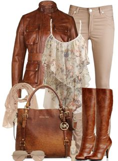 Triumph Cognac Brown Belted Leather Jacket