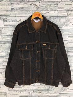 28a82fe3440 Vintage YSL Yves Saint Laurent Jacket Jeans XLarge 90s Italy Designer Ysl  Paris Trucker Denim Saint Lauren Pour Homme Black Jeans Jacket XL
