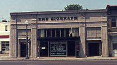 "Only got the last few years of this wonderful rep theater in DC.   From cinematreasures.org: ""The Biograph Theater was a repertory movie house, built inside the shell of an old auto dealership. It opened in 1976 and closed in 1996, being replaced by a CVS drugstore.  An old photo of the theater hangs in the store's window, but it only adds to the misery of those who loved this Georgetown favorite."""