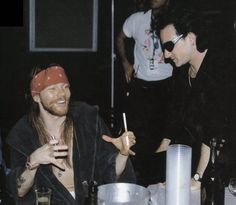 Axl Rose and Bono Vox, early '90s,
