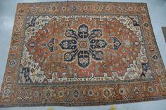 "Serapi Oriental carpet, circa 1890-1910 (one end border missing). 10'10"" x 14'2"" - Realized Price: $4,425.00"