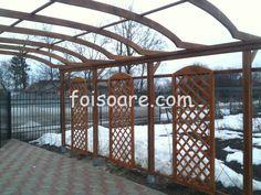Pergole lemn cu arcada pentru intrare in curte Arch, Outdoor Structures, Garden, Longbow, Garten, Lawn And Garden, Gardens, Wedding Arches, Gardening