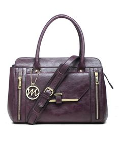This emilie m. Eggplant Purple Vicky Satchel by emilie m. is perfect! #zulilyfinds