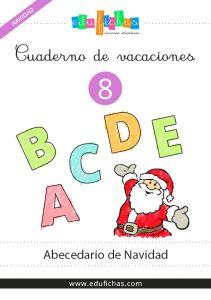 cuaderno del abecedario de navidad