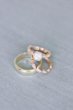 Vintage gold band engagement ring: http://www.stylemepretty.com/california-weddings/san-juan-capistrano/2016/08/23/al-fresco-serra-plaza-wedding/ Photography: Kristina Adams - http://www.kristinaadamsphotography.com/