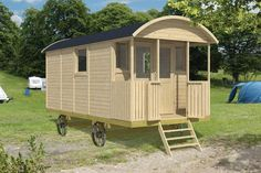 Most customers buy the Gypsy Caravan for a Garden office or additional accommodation for rental. Gypsy Caravan, Gypsy Wagon, Cabana, Gypsy Home, Porch Area, Front Porch, Double Vitrage, Porche, Shepherds Hut