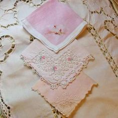I have many of my Great Grandmother's hankies that she tatted her own lace on.
