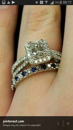 Gorgeous Vera Wang engagement ring and wedding band