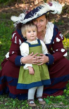 Landsknecht and daughter from Actions in the Lowe Countries reenactment event - Photo by Howard Gold