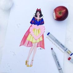 Leaving NY to the happiest place on the planet 💗✈️ #snowwhite #disneyworld #disneystyle #disney #copic @copicmarker @disneystyle @waltdisneyworld #art #sketch #illustration #abmhappylife @disney #copicmakers #orlando