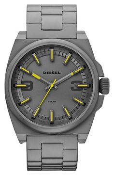 Yellow + Gunmetal Watch.