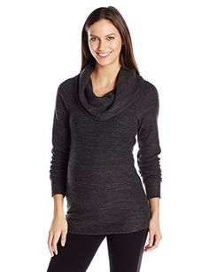 Ingrid  Isabel Womens Maternity Cowl Neck Sweatshirt Charcoal Black TriBlend M >>> Click on the image for additional details.Note:It is affiliate link to Amazon.
