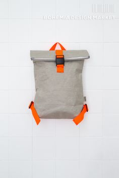 Batoh Gray / Zboží prodejce s. Bohemia Design, Orange Backpacks, Gray, The Originals, Stuff To Buy, Handmade, Vegan, Leather, Travel