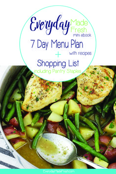 Everyday Made Fresh, known for it's quick & simple family recipes has created a 1 Week Menu Plan + Shopping List. This plan includes 7 meals that are ready in less than 30 minutes and feeds a family of Chia Pudding, Roast Beef And Cheddar, Skinny Broccoli Salad, Sweet Potato Cheesecake, Appetizer Recipes, Dinner Recipes, Fresh Strawberry Cake, Grilled Peaches, Easy Family Meals