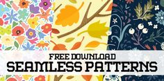 Pattern Design – 27 Seamless Free Vector Patterns #photoshoppatterns #seamlesspattern #vectorpatterns