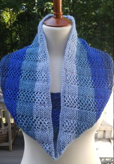Cloud-soft Merino Alpaca Infinity Scarf/Cowl in Sky Blues by SisterCreationsLLP…