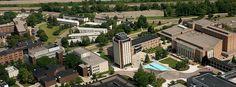 Part of Western Michigan University's main campus. Kalamazoo, Michigan.
