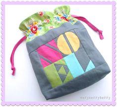 Sew Very Christmas Drawstring Bags