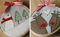 embroidery hoop crafts | You can make your own unique embroidery hoops as gifts, or hang them ...