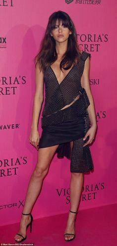 Revealing:Georgia Fowler took centre stage at the Victoria's Secret Fashion Show after party on Wednesday night