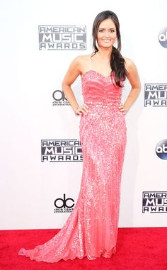 Danica McKellar from 2015 American Music Awards: Red Carpet Arrivals  Pretty in pink! The Wonder Years star smiles bright for the cameras.