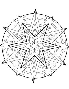 coloring page Mandala Christmas on Kids-n-Fun. Coloring pages of Mandala Christmas on Kids-n-Fun. More than coloring pages. At Kids-n-Fun you will always find the nicest coloring pages first! Pattern Coloring Pages, Cool Coloring Pages, Mandala Coloring Pages, Christmas Coloring Pages, Printable Coloring Pages, Adult Coloring Pages, Coloring Pages For Kids, Coloring Sheets, Coloring Books