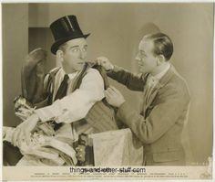 Edward Everett Horton with Fred Astaire in Shall We Dance (1937) vintage still photo on Immortal Ephemera