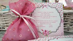 προσκλητηριο με λουλουδια για κοριτσι Gift Wrapping, Tableware, Gifts, Suitcase, Gift Wrapping Paper, Dinnerware, Presents, Wrapping Gifts, Tablewares