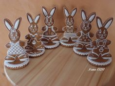 Autor: nana13211 No Bake Cookies, Sugar Cookies, Gingerbread Cookies, Christmas Cookies, Cookie Decorating, Easter Eggs, Food And Drink, Bunny, Clay