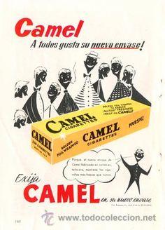 Página Publicidad Original *Cigarrillos CAMEL · CAMEL Cigarettes* Agencia RUESCAS - Año 1957